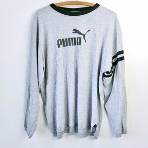 PUMA Men's Gray Long Sleeve Shirt L